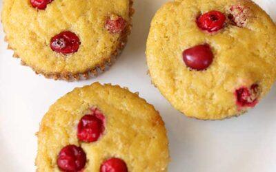 Cranberry Cornmeal Muffins
