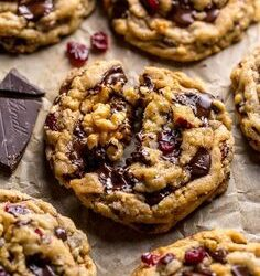 Gluten-Free Chocolate Chip Cranberry Nut Cookies